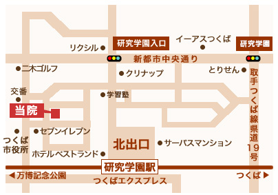 さくま皮フ科クリニック-地図1